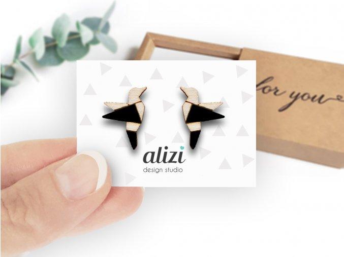 Náušnice Alizi Design Kolibříci