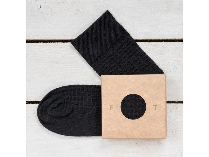Ponožka Flashtones Černá vzor č 081