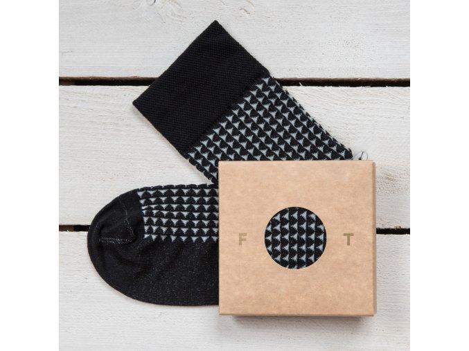 Ponožka Flashtones Černá vzor č 082