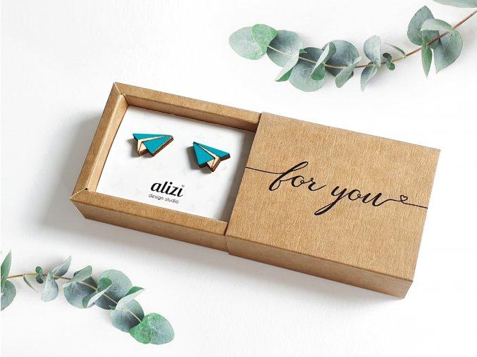 Náušnice Alizi Design Blue vlaštovky