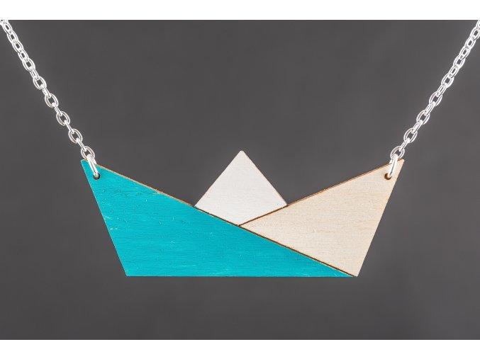 Náhrdelník Alizi Design Blue Loďka