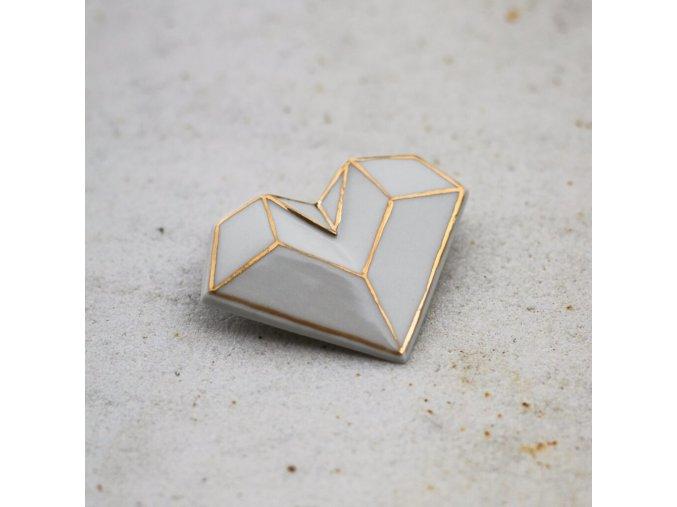 brož Stehlík Srdce zlaté