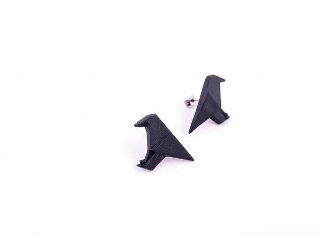 náušnice Stehlík vrány černá