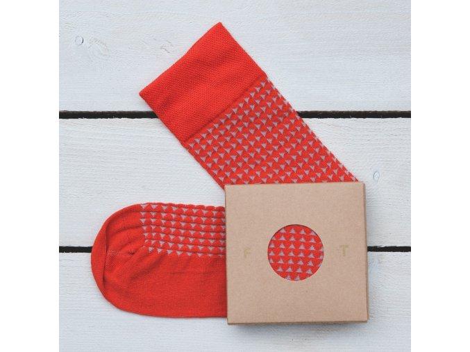 Ponožka Flashtones světle Červená vzor č. 060