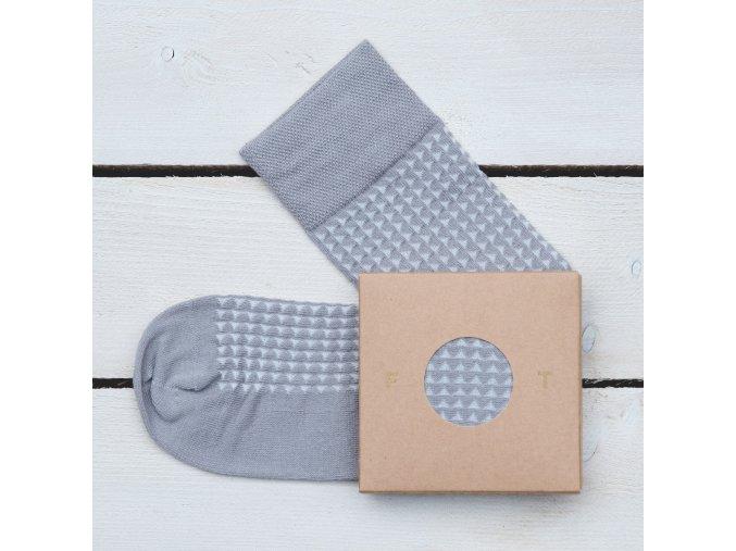 Ponožka Flashtones Šedá vzor č. 061