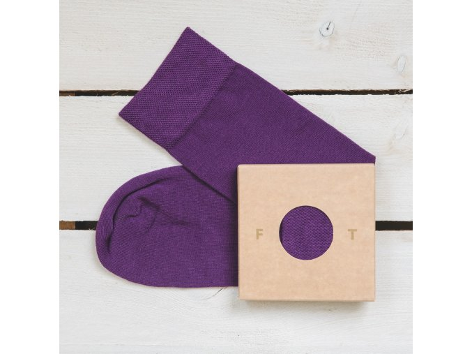 Ponožka Flashtones Fialová č 070