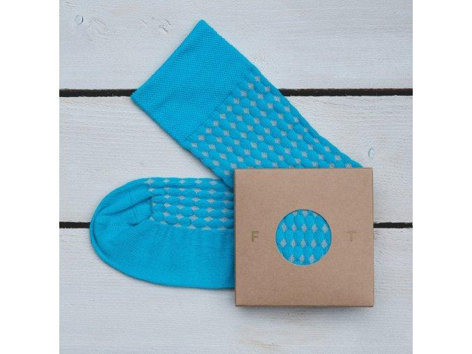 Ponožka Flashtones světle modrá Vzor č. 065
