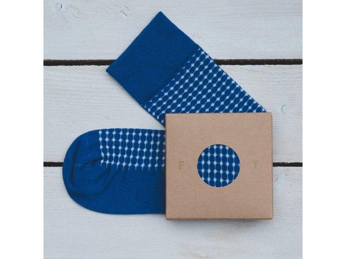 Ponožka Flashtones tmavě modrá Vzor