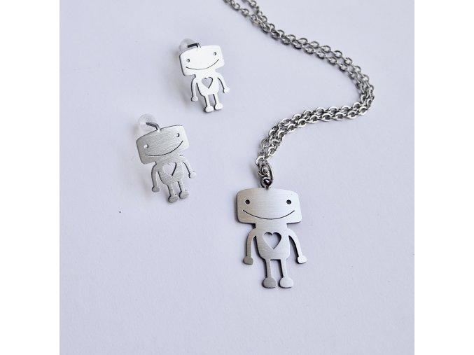 náhrdelník Jelly fish Robot