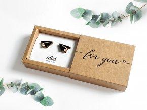 Náušnice Alizi Design Black vlaštovky