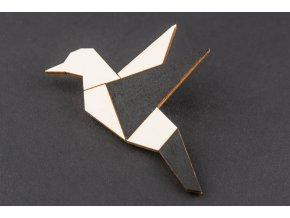 Brož Alizi Design Black kolibřík