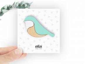 B bird rounded mint