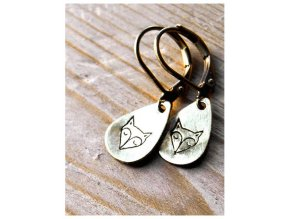 teardrop fox earrings