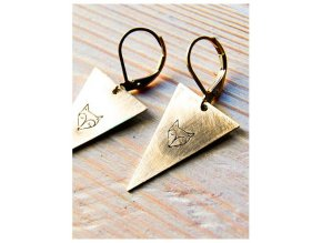 triangle fox earrings