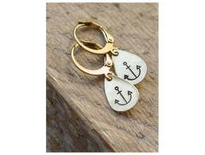teardrop anchor earrings