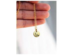 bird triangle necklace