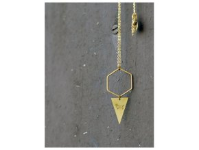 dachshund triangle with hexagon necklace (1)