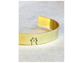 adjustable cat cuff bangle bracelet