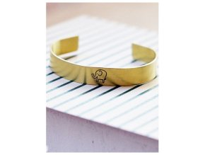 adjustable elephant cuff bangle bracelet