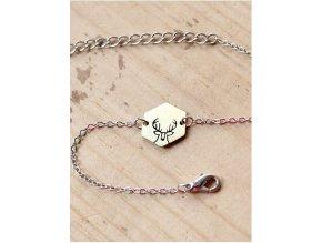 deer chain bracelet