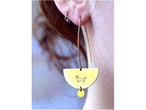 long pretty dachshund earrings