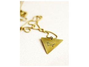 dachshund triangle necklace
