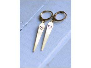 pretty long heart earrings