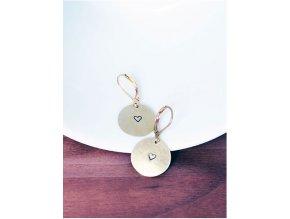 round heart earrings