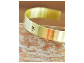 adjustable bee cuff bangle bracelet