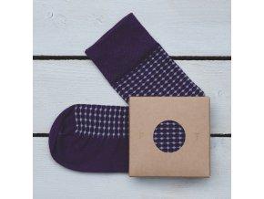 Ponožka Flashtones Fialová Vzor č. 062