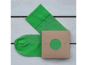 Ponožka Flashtones Zelená vzor č. 057