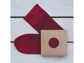 Ponožka Flashtones Vínová